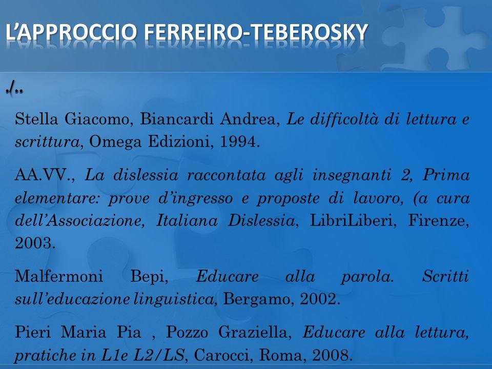 Stella Giacomo, Biancardi Andrea, Le difficoltà di lettura e scrittura, Omega Edizioni, 1994.