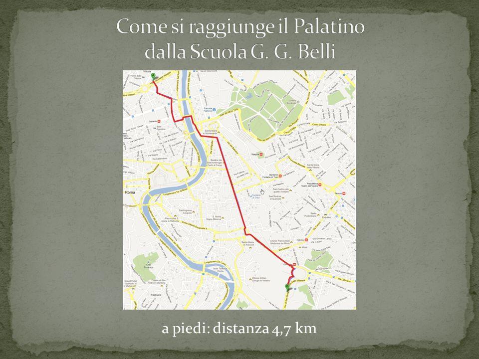 a piedi: distanza 4,7 km