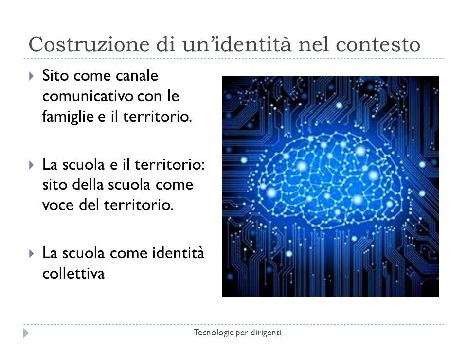 Costruzione di unidentità nel contesto Sito come canale comunicativo con le famiglie e il territorio.