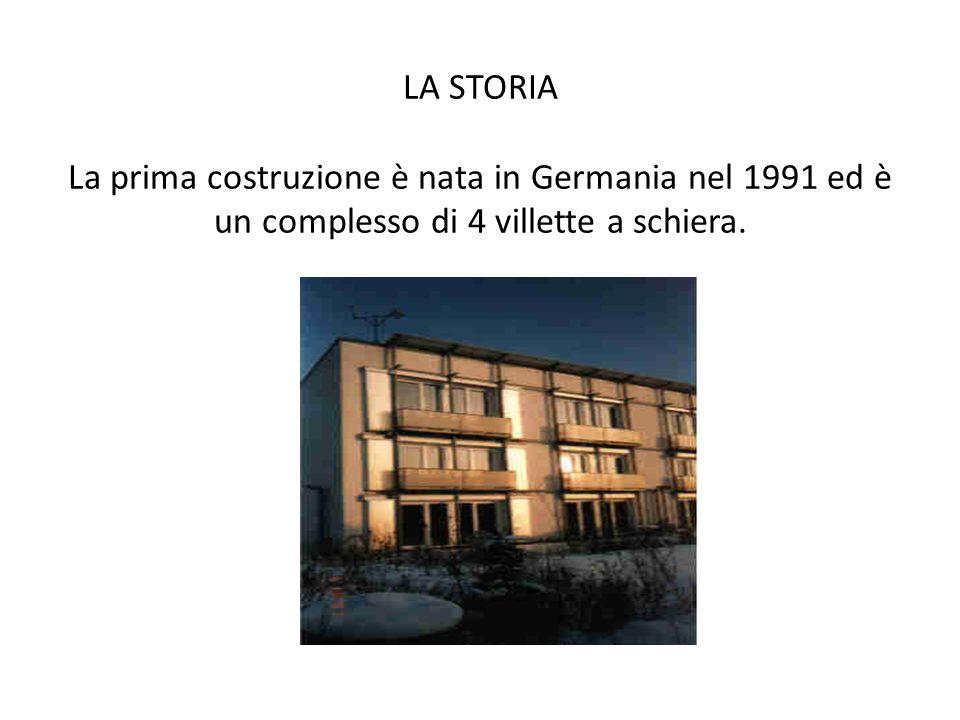 LA STORIA La prima costruzione è nata in Germania nel 1991 ed è un complesso di 4 villette a schiera.
