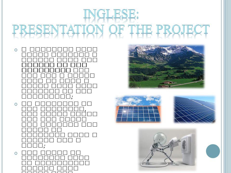 La conversione fotovoltaica è una tecnica che consente di trasformare l energia solare in elettricità, resa possibile della proprietà di alcuni materiali detti semiconduttori di generare energia elettrica quando sono colpiti dalla radiazione solare ; Le celle fotovoltaiche sono realizzate con il silicio, che può essere monocristallin o, policristallin o o amorfo ; Nel mio progetto il sistema fotovoltaico è connesso alla rete elettrica quindi la produzione di energia può essere utilizzata sia in modo autonomo oppure essere ceduta in parte attraverso uno scambio di energia con l Ente erogatore di energia elettrica