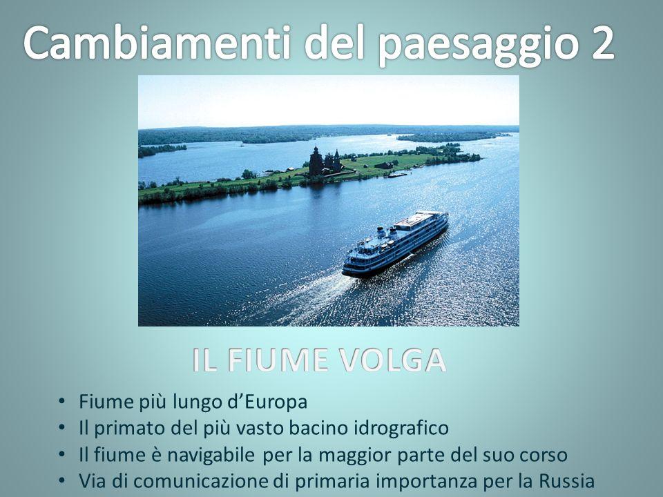 Fiume più lungo dEuropa Il primato del più vasto bacino idrografico Il fiume è navigabile per la maggior parte del suo corso Via di comunicazione di primaria importanza per la Russia