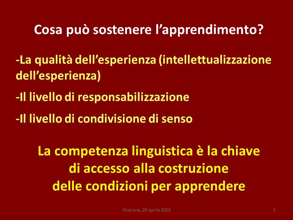 Viverone, 20 aprile 20125 Cosa può sostenere lapprendimento.