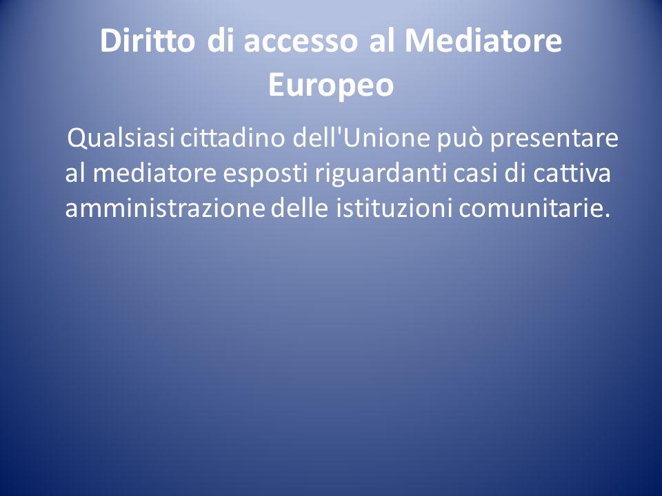 Diritto a contattare le istituzioni dellUE Il cittadino europeo ha il diritto a contattare e ricevere una risposta da ogni istituzione dell UE in una delle lingue ufficiali dell UE.