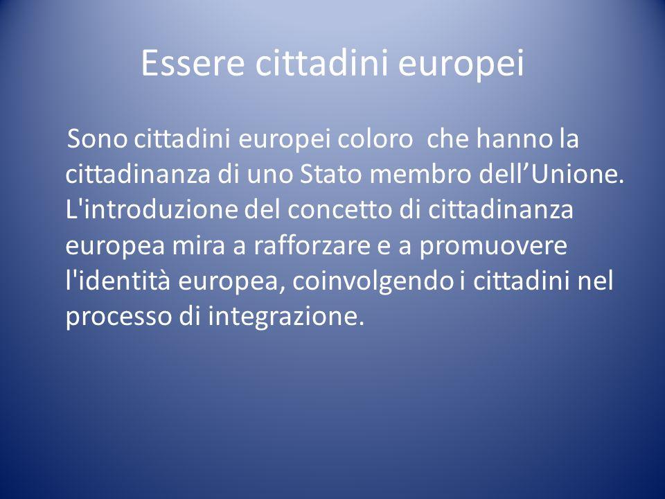 I diritti dei cittadini europei I cittadini europei godono di una serie di diritti di carattere generale in diversi settori, quali quello della libera circolazione dei beni e dei servizi, della tutela del consumatore e della sanità pubblica, della parità di opportunità e di trattamento, dell accesso all occupazione ed alla previdenza sociale.