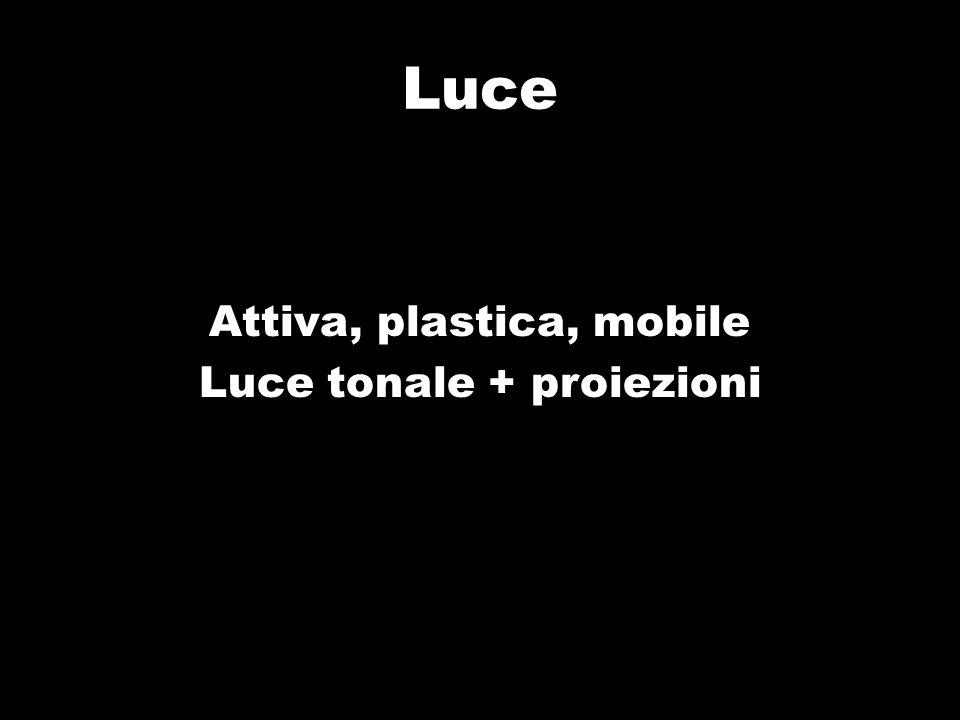Luce Attiva, plastica, mobile Luce tonale + proiezioni