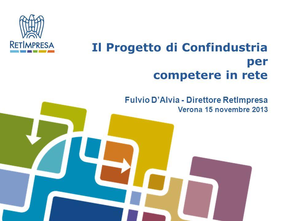 Il Progetto di Confindustria per competere in rete Fulvio DAlvia - Direttore RetImpresa Verona 15 novembre 2013