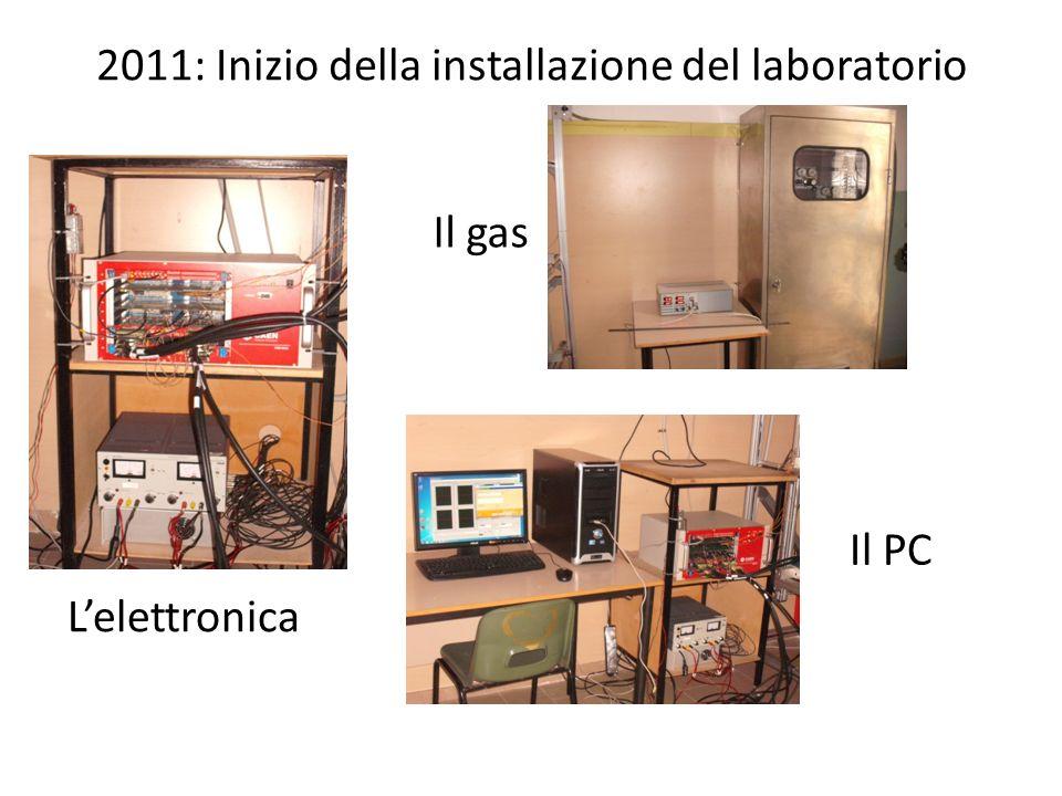 2011: Inizio della installazione del laboratorio Il gas Lelettronica Il PC