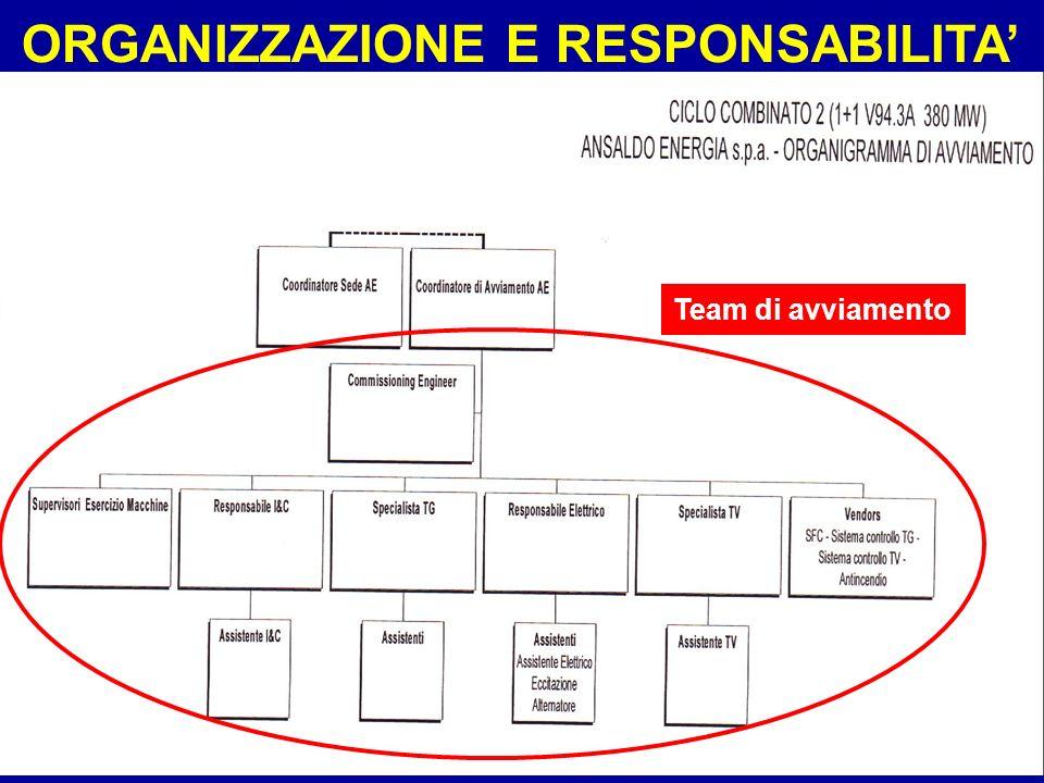 Sistemi41 ORGANIZZAZIONE E RESPONSABILITA Team di avviamento