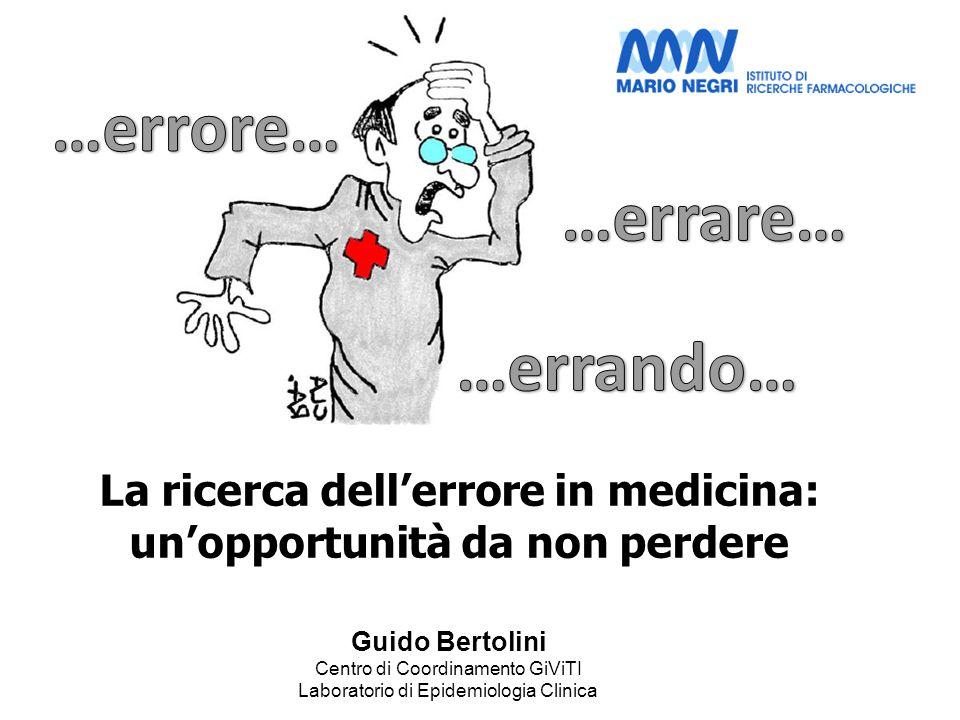 La ricerca dellerrore in medicina: unopportunità da non perdere Guido Bertolini Centro di Coordinamento GiViTI Laboratorio di Epidemiologia Clinica
