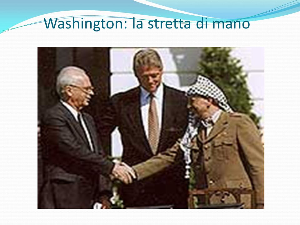 Washington: la stretta di mano