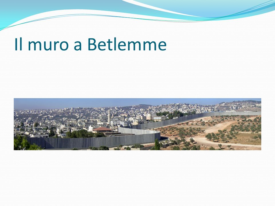Il muro a Betlemme