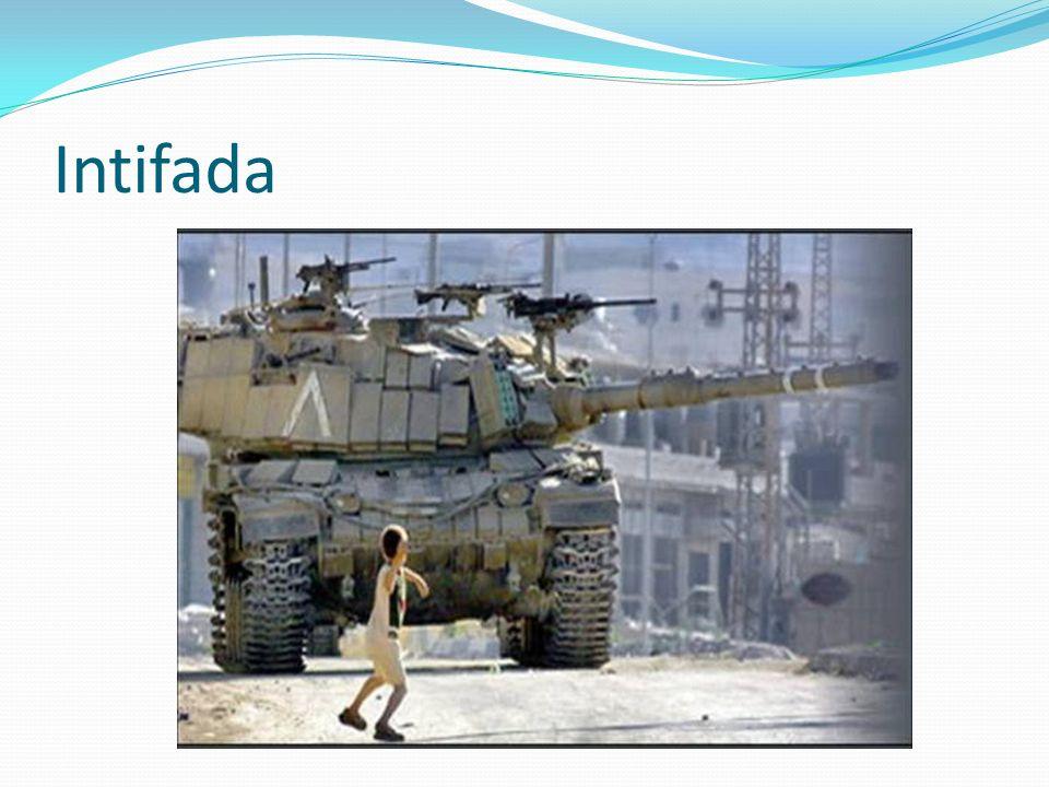 LIntifada Al Aqsa Obiettivi: indipendenza immediata della Palestina (Cisgiordania e Gaza) soluzione del problema Gerusalemme soluzione del problema profughi ritiro unilaterale di Israele dai Territori Caratteri Uso delle armi Limitata alle zone periferiche dei centri urbani Si uniscono alla ribellione anche i Palestinesi di Israele 6 febbraio 2001, Sharon vince le elezioni 13 febbraio: inizia la strategia dei raid mirati israeliani Lintifada riprende: 14 febbraio: primo kamikaze palestinese