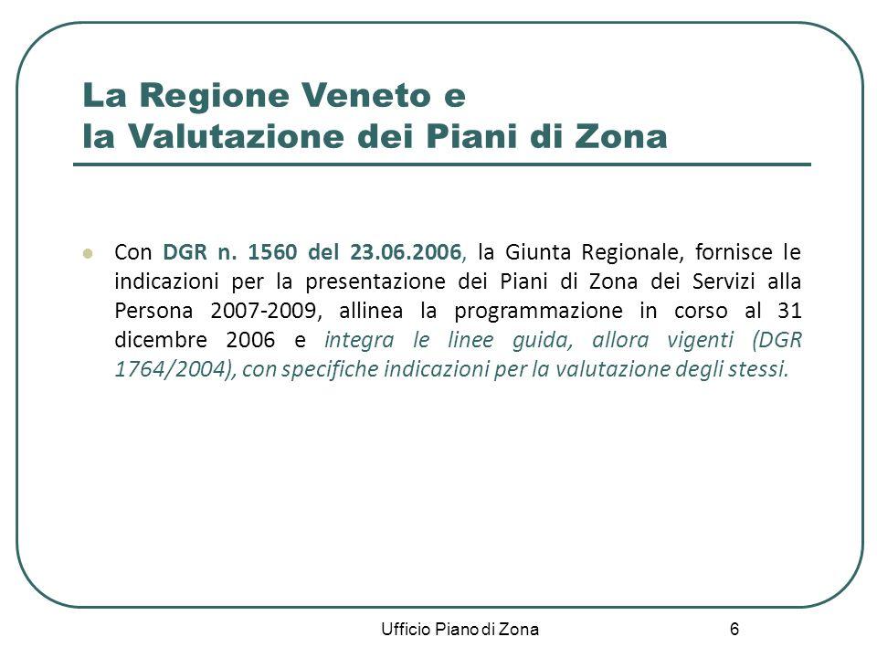 6 La Regione Veneto e la Valutazione dei Piani di Zona Con DGR n.