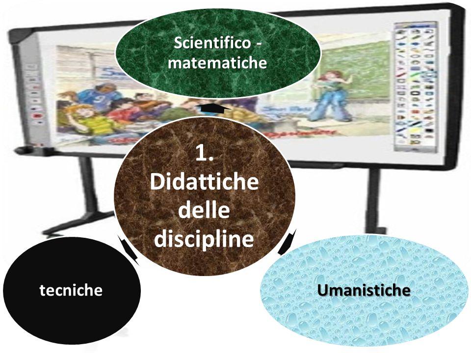 1. Didattiche delle discipline Scientifico - matematiche Umanistiche tecniche