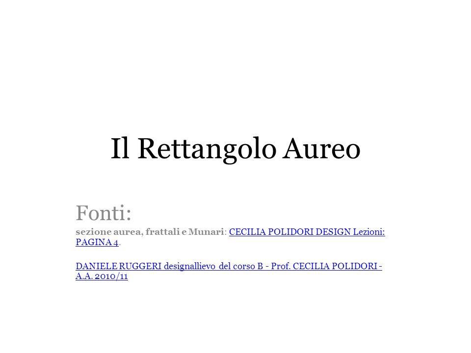 φ 1,618 Divina Proporzione o Numero dOro.
