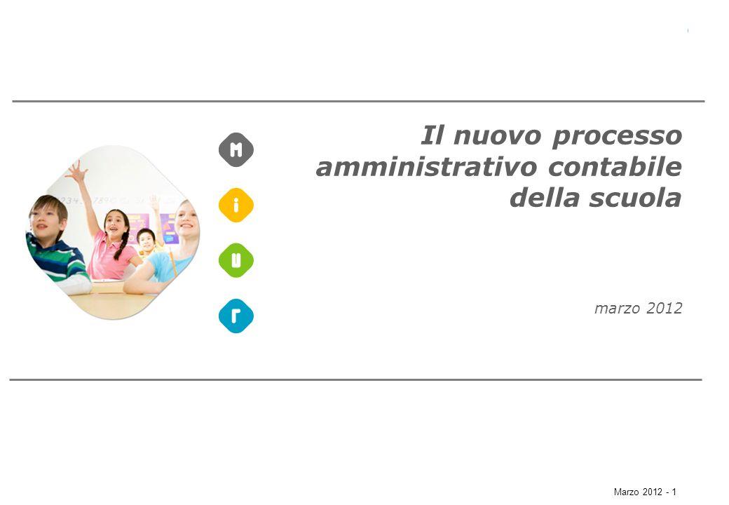 Marzo 2012 - 1 Il nuovo processo amministrativo contabile della scuola marzo 2012