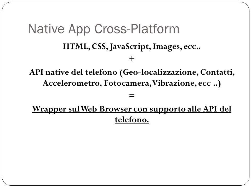 Native App Cross-Platform HTML, CSS, JavaScript, Images, ecc..