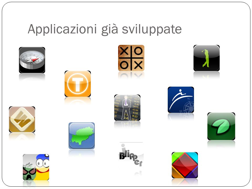 Applicazioni già sviluppate