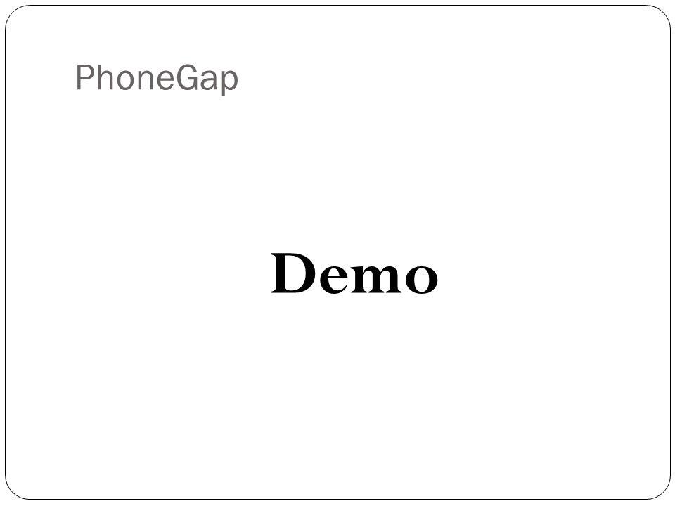 PhoneGap Demo