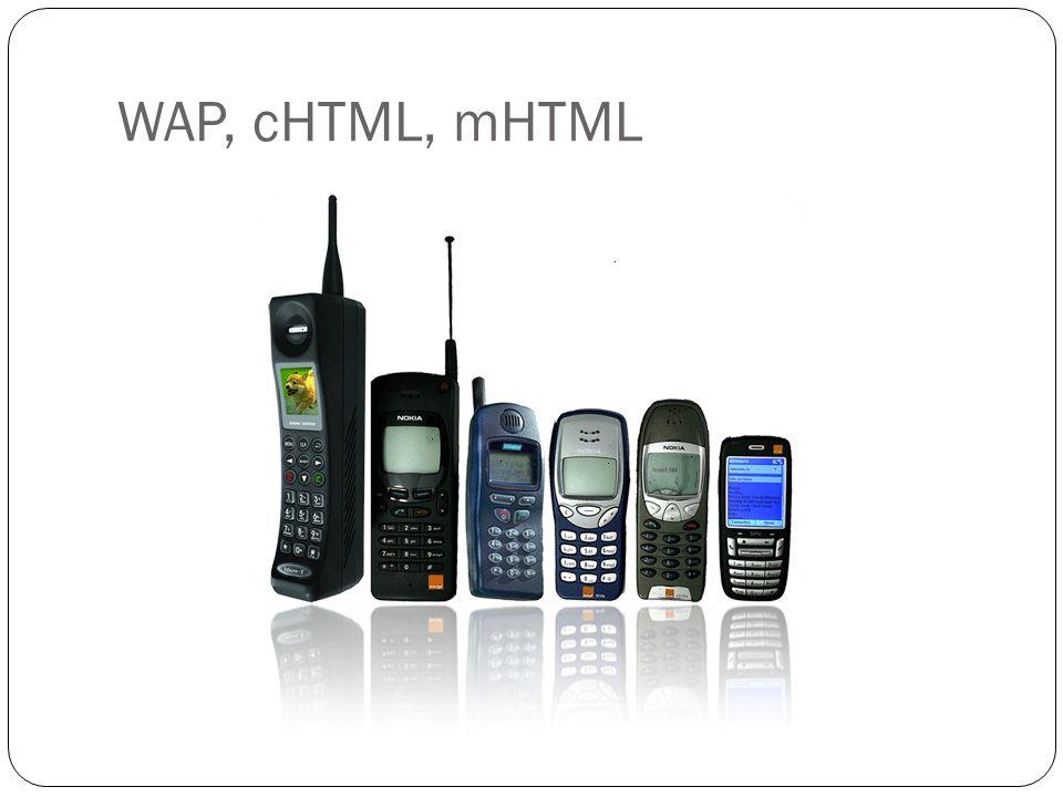 WAP, cHTML, mHTML