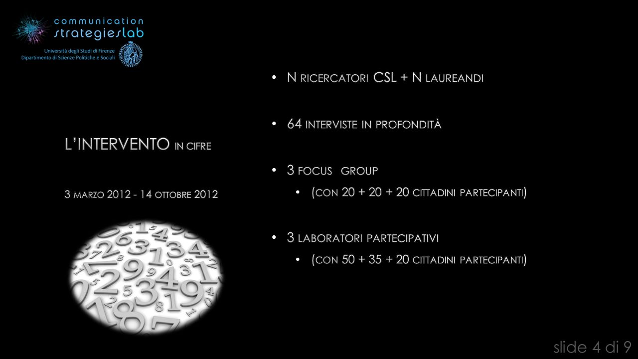 3 MARZO 2012 - 14 OTTOBRE 2012 slide 4 di 9