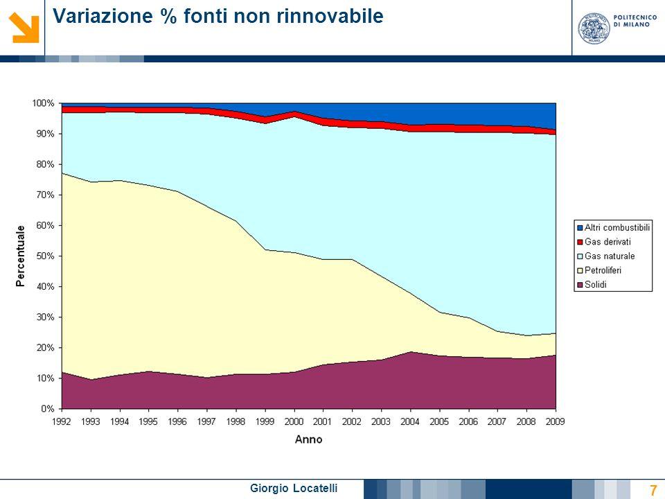 Giorgio Locatelli Variazione % fonti rinnovabile 8