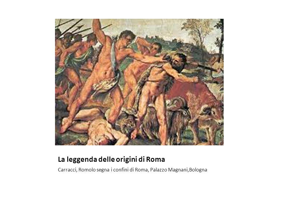 La leggenda delle origini di Roma Carracci, Romolo segna i confini di Roma, Palazzo Magnani,Bologna