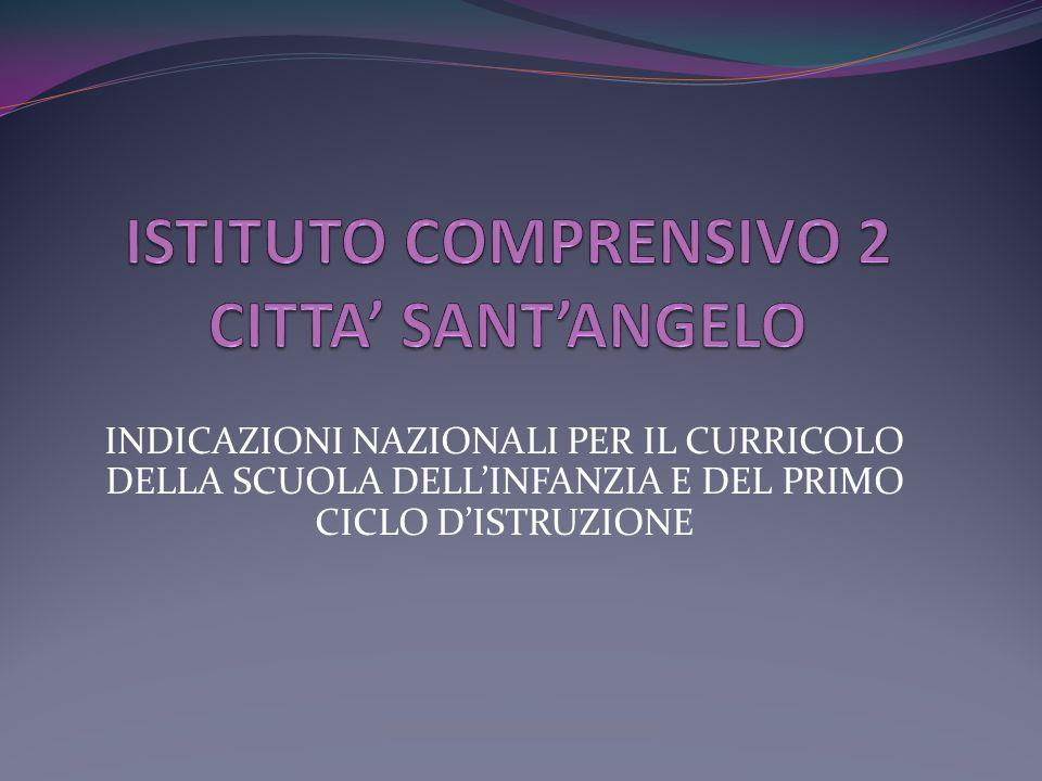 Cultura, scuola, persona: le finalità della Scuola dellInfanzia e del Primo ciclo dellistruzione; Lambiente di apprendimento; Le competenze;