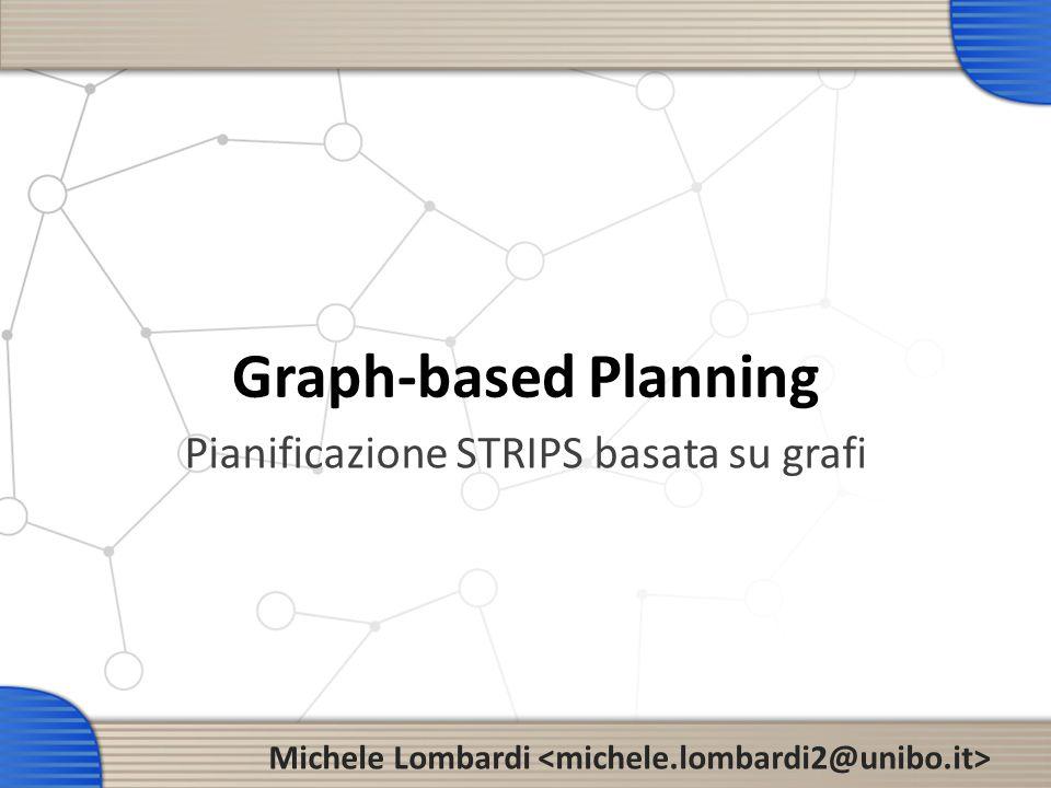 La lezione/esercitazione di oggi 2 Graphplan Planning graph Pianificazione come ricerca sul planning graph Blackbox Ricerca nel planning graph come problema di soddisfacimento FF (Fast Forward) Ricerca su planning graph come euristica Pianificazione basata su grafi & derivati Approccio pratico: presentazione di pianificatori (ne parleremo a lungo) (accenni)