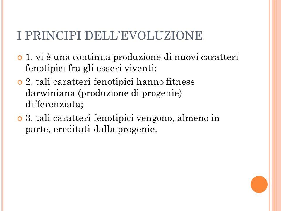 I PRINCIPI DELLEVOLUZIONE 1.