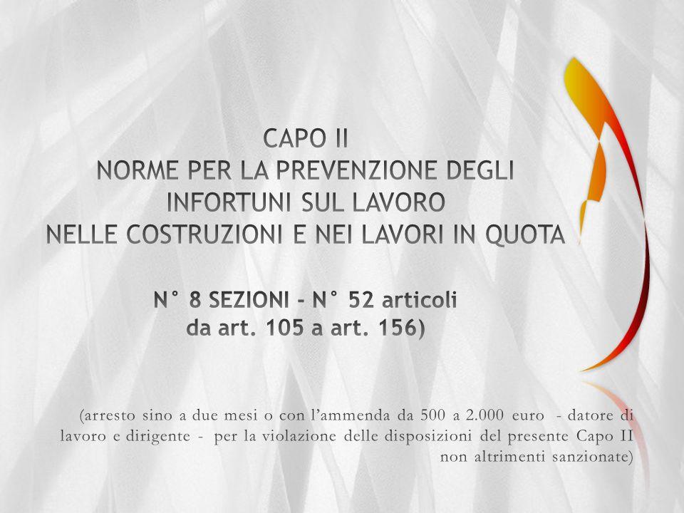 SEZIONE I - CAMPO DI APPLICAZIONE