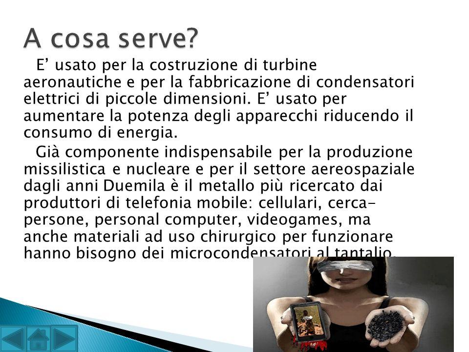 E usato per la costruzione di turbine aeronautiche e per la fabbricazione di condensatori elettrici di piccole dimensioni. E usato per aumentare la po