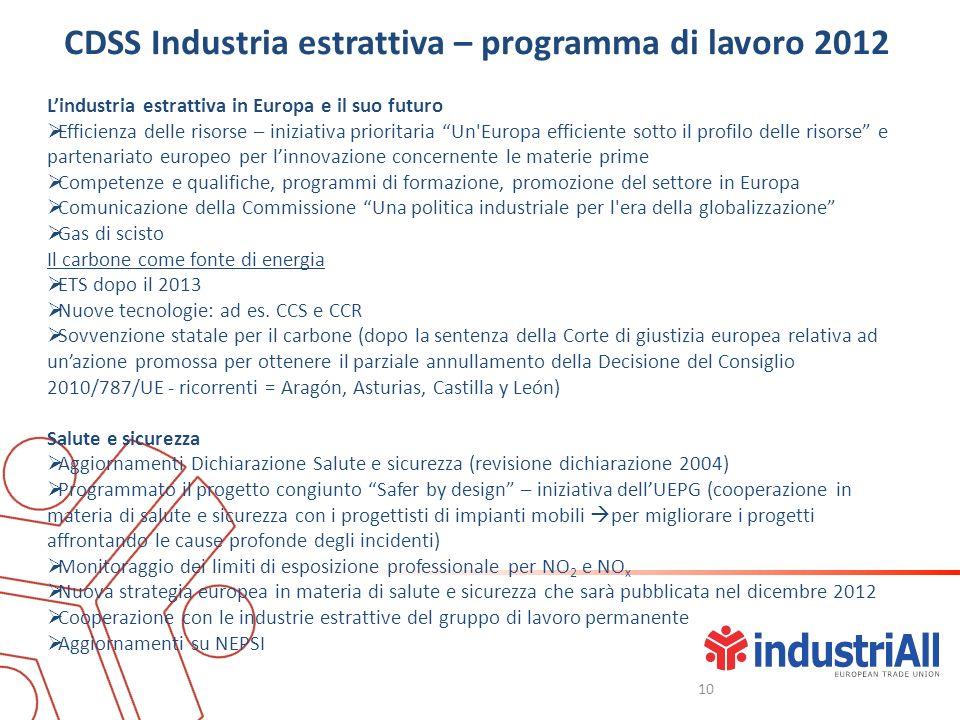 Lindustria estrattiva in Europa e il suo futuro Efficienza delle risorse – iniziativa prioritaria Un'Europa efficiente sotto il profilo delle risorse