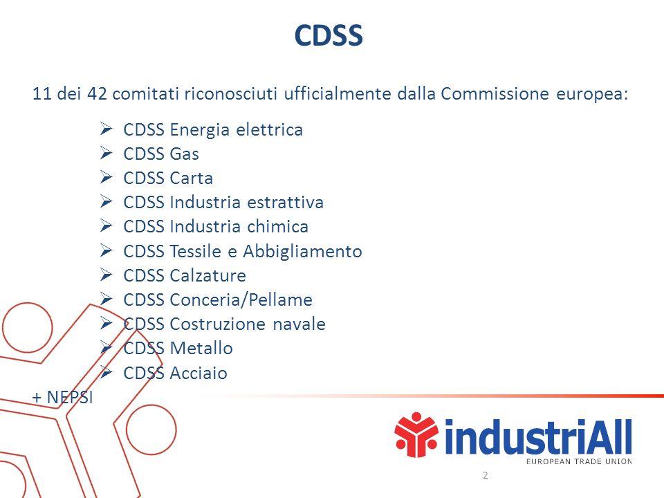 CDSS 11 dei 42 comitati riconosciuti ufficialmente dalla Commissione europea: CDSS Energia elettrica CDSS Gas CDSS Carta CDSS Industria estrattiva CDS