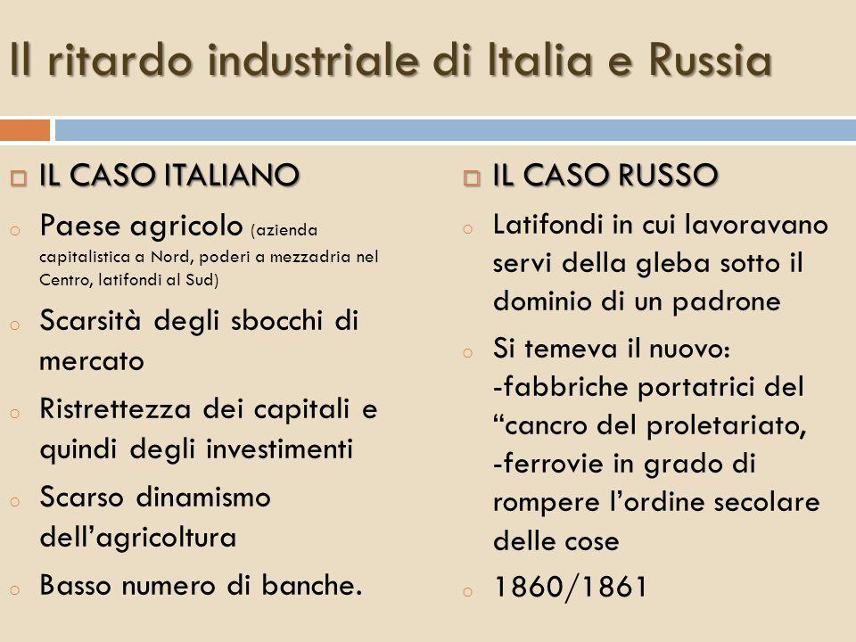 Lindustrializzazione sul continente - T.