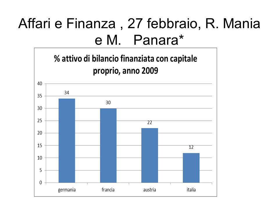 Affari e Finanza, 27 febbraio, R. Mania e M. Panara*