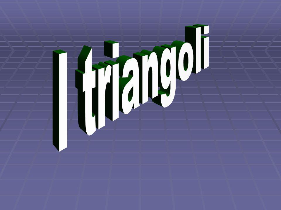 Il triangolo è un poligono che ha tre lati e tre angoli; Il triangolo è un poligono che ha tre lati e tre angoli;