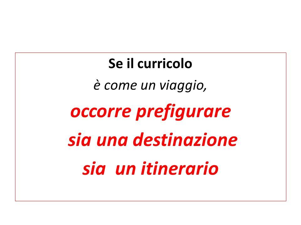 Se il curricolo è come un viaggio, occorre prefigurare sia una destinazione sia un itinerario