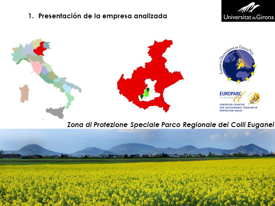 1.Presentación de la empresa analizada Zona di Protezione Speciale Parco Regionale dei Colli Euganei