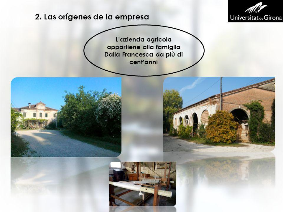 2. Las orígenes de la empresa Lazienda agricola appartiene alla famiglia Dalla Francesca da più di centanni