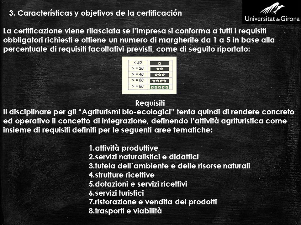 3. Características y objetivos de la certificación La certificazione viene rilasciata se limpresa si conforma a tutti i requisiti obbligatori richiest