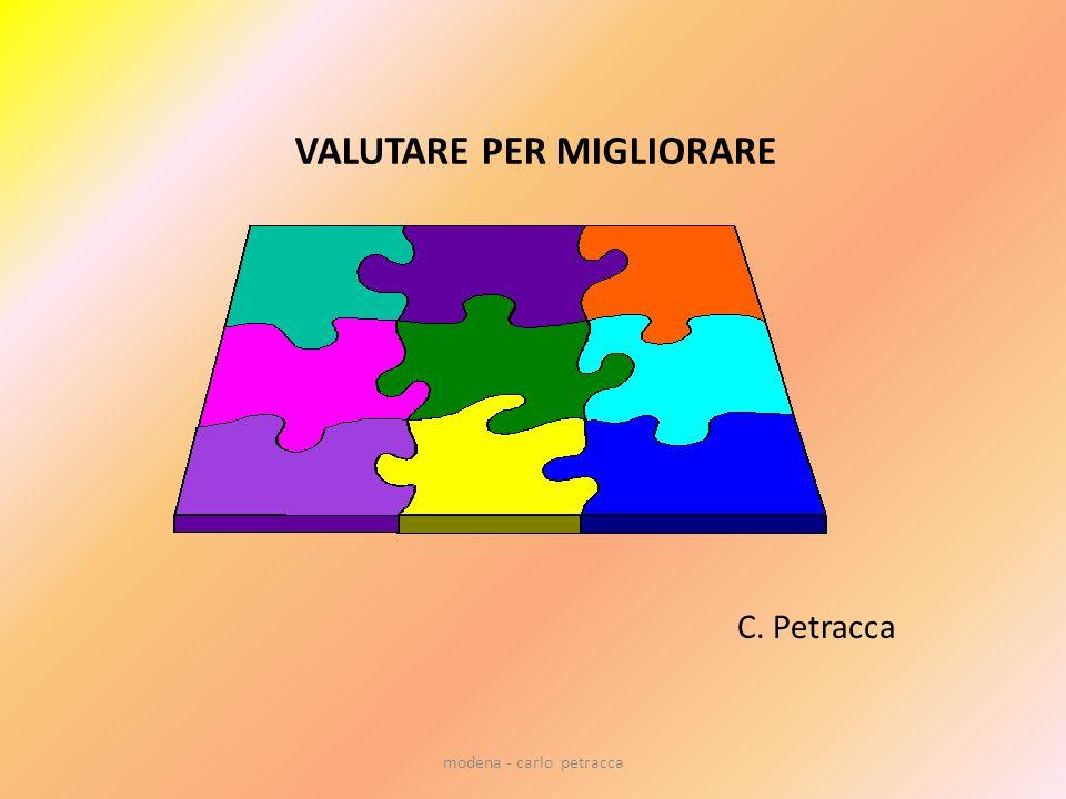 modena - carlo petracca CONCETTO INNOVATIVO VALUTAZIONE FORMATIVA VALUTAZIONE ORIENTATIVA VALUTAZIONE CONTINUA VALUTAZIONE = VERIFICA VALUTAZIONE=AUTOVALUTAZIONE