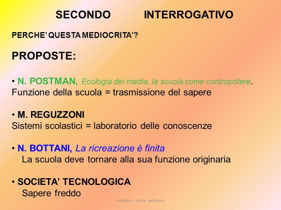modena - carlo petracca SECONDO INTERROGATIVO PERCHE QUESTA MEDIOCRITA.