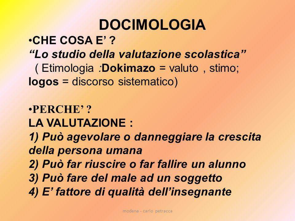 modena - carlo petracca DOCIMOLOGIA CHE COSA E .