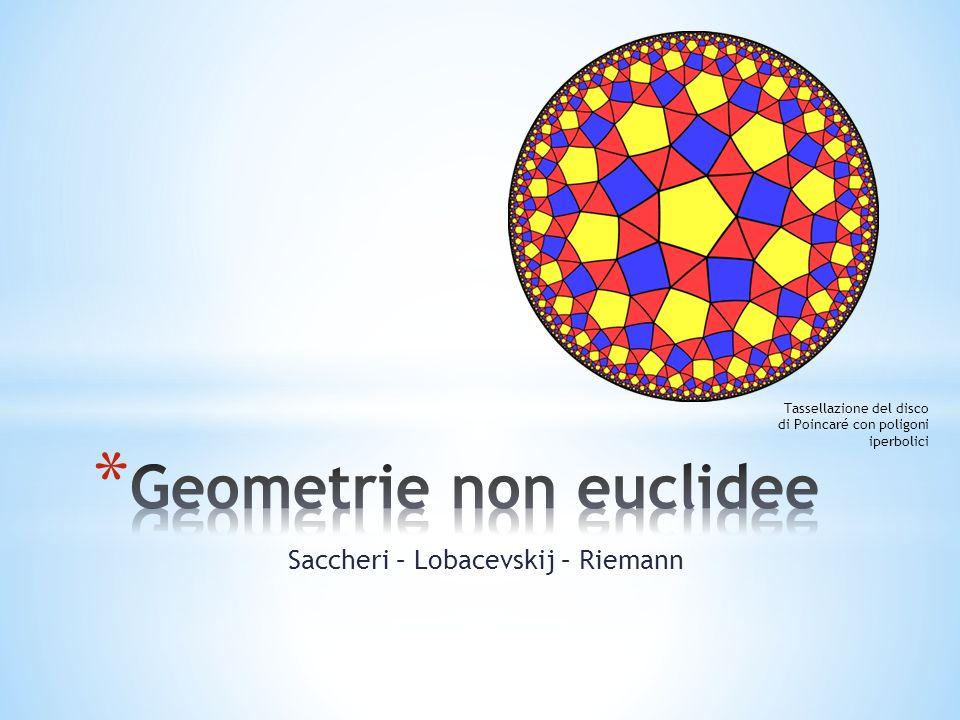 Saccheri – Lobacevskij – Riemann Tassellazione del disco di Poincaré con poligoni iperbolici