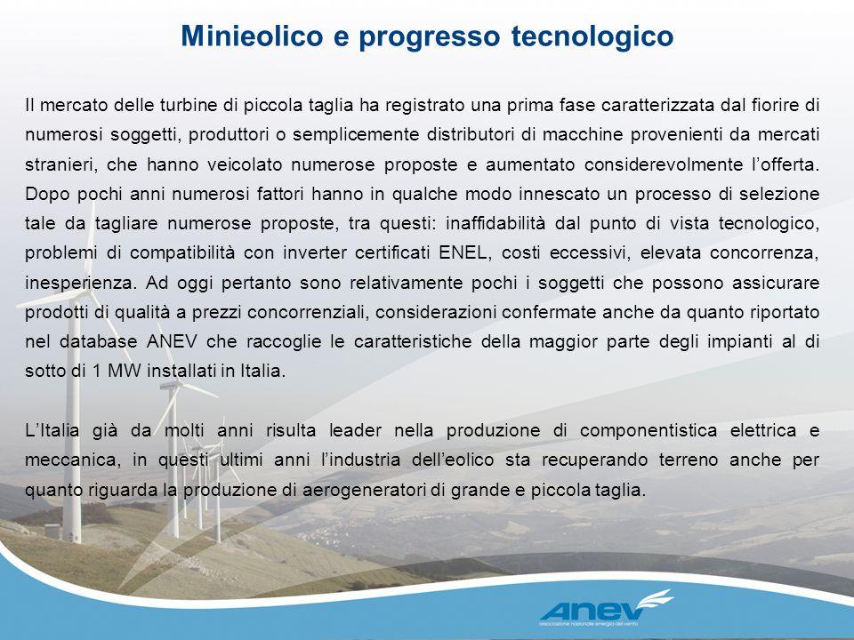 Il mercato delle turbine di piccola taglia ha registrato una prima fase caratterizzata dal fiorire di numerosi soggetti, produttori o semplicemente di