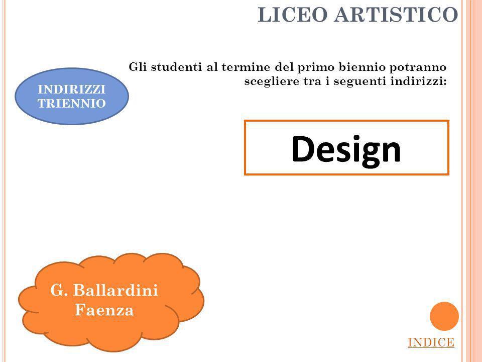 LICEO ARTISTICO INDICE G.