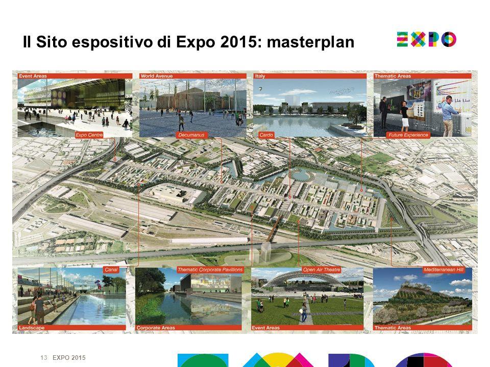EXPO 2015 13 Il Sito espositivo di Expo 2015: masterplan