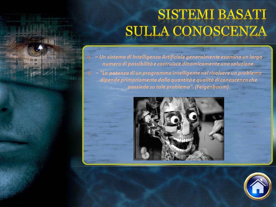 – Un sistema di Intelligenza Artificiale generalmente esamina un largo numero di possibilità e costruisce dinamicamente una soluzione. –